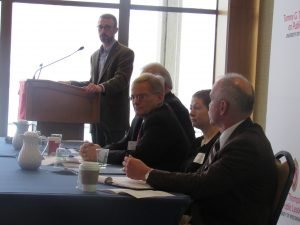 Barry Burden oversees panel 1 discussions