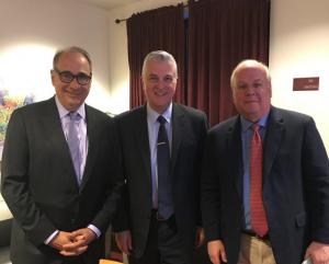 David Axelrod, Karl Rove, and Moderator